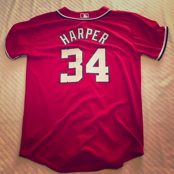 best service 1df77 42136 Bryce Harper Washington Nationals Jersey. Youth L